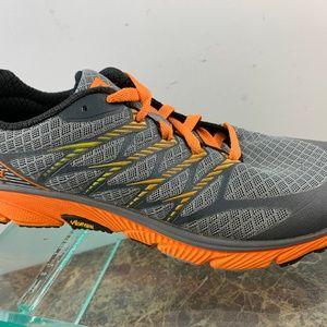 Merrell Monument Orange Gray Light Running Shoes 8